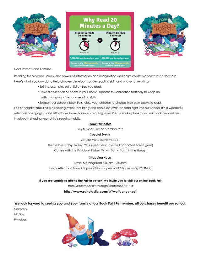 Fall 2018 Book Fair Flyer