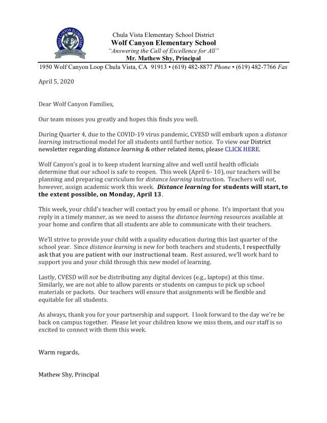 Distance Learning_Letter to Parents WC copy